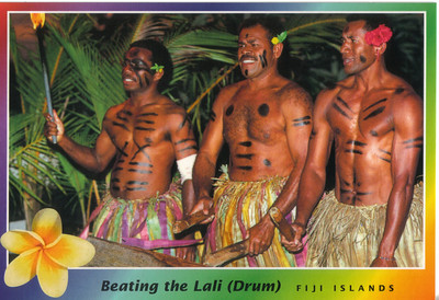 018_Beating the Lali (Drum), The sound carries great distances, even between islands