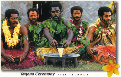 012_The Yaqona Ceremony, Kava  Drink  made from crushed root of a plant of the same name