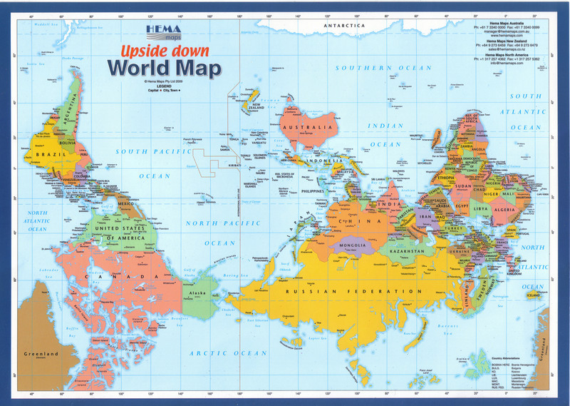 004_Upside Down World Map