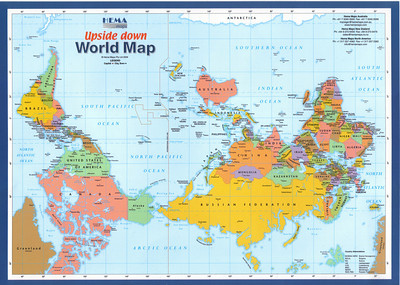 004_Upside Down World Map