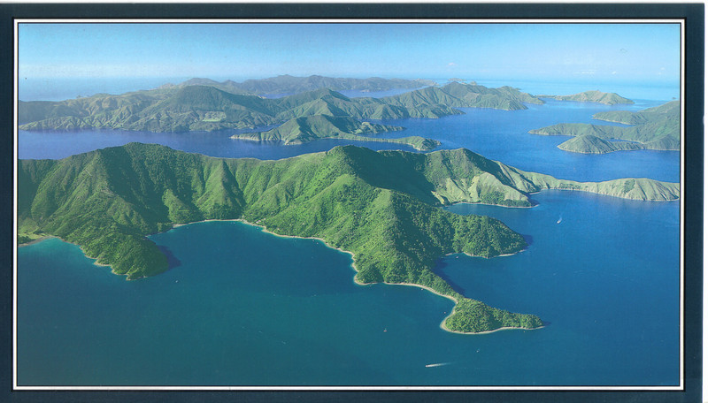 374_Outlying islands of the Marlborough Sounds  Flying north from Picton