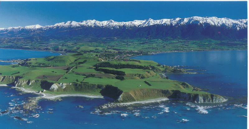 388_Kaikoura, Panoramic View Part 2  The snow-capped Kaikoura Ranges in the background