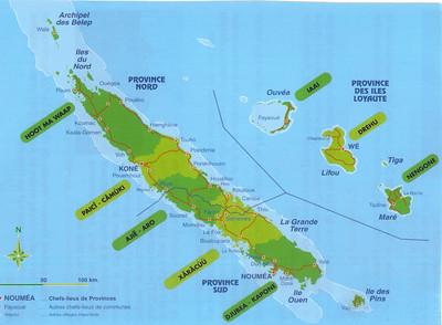 005_New Caledonia Map  The Biggest Lagoon in the World, around 24,000 km