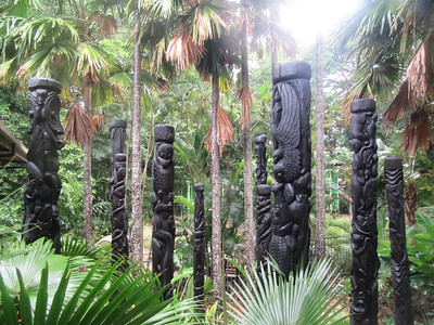 026_Port Moresby  Nature Park  Sepik Totem Pole  Welcoming  2 of 2