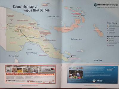 003_Papua New Guinea  Economic Map  Independence 1975  Christianity is predominant