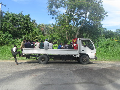 170_Madang to Malolo Plantation Lodge  The Public Motor Vehicle (PMV), equivalent of bus