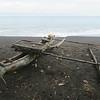 240_Suruman Village  Coastal Village  Fishing  Outrigger canoe with platform for fishing gears
