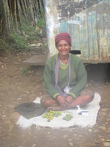 386_Kingalri Village  Melpa (local tribe) Village Study  Roadside market  Beetle Nuts vendor