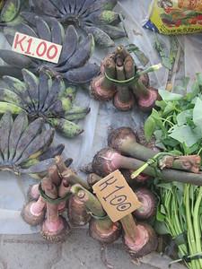 148_Madang  Town Market  Taro and Cooking bananas