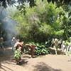 468_Pogla Village  Mudmen dances  Tries to scare the women away