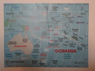 002_Pacific Ocean  Map