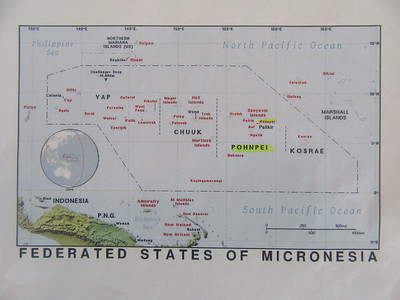 005_Federated States of Micronesia  Four States  Comprises around 607 islands that cover a longitudinal distance of almost 2,700 km