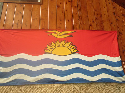 008_Kiribati  Flag  Gets a large portion of its income from abroad (fishing licenses, development assistance, worker remittances, and tourism)