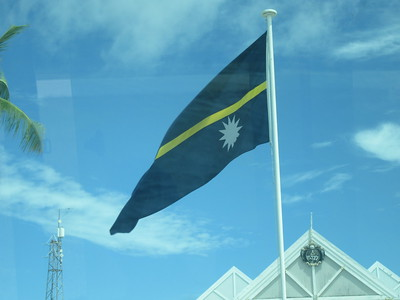 006_Nauru  Flag  Once the rich kid of the Pacific, wealthy through phosphates  A deposit of thousand of years of bird droppings, called Guano  Easy strip mining operation  Used to fertilize fields in faraway places