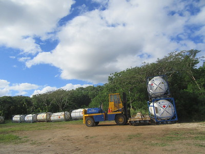 019_Niue  Western Side  Fuel Containers