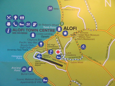 022_Niue  Western Side  Alofi Town Center  Map