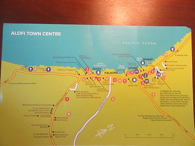 021_Niue  Western Side  Alofi Town Center  Map  Less than 1,000 inhabitants