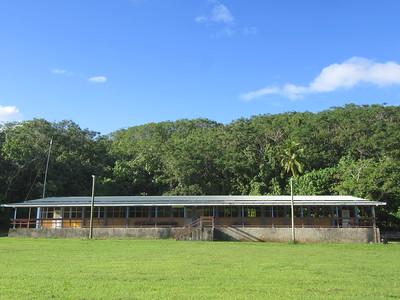 014_Niue  Western Side  Avatele Village  Former school (depopulation)  Now an Evacuation Centre
