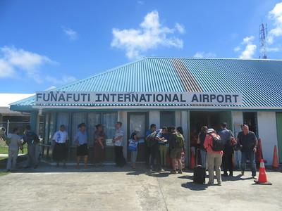 015_Funafuti  International Airport  Former Twin Brother Kiribati (The Gilbert Islands) is 400km away  No flight to Kiribati, by boat only, 3 days and 3 nights