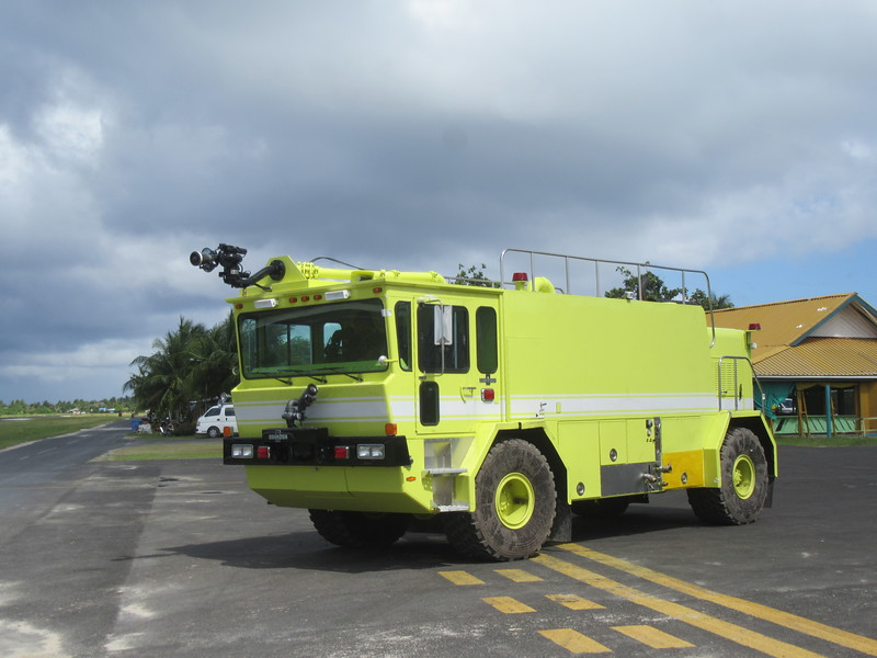 019_Funafuti  International Airport  Emergency Foam Truck  Worth $500,000 USD  Funded by the World Bank