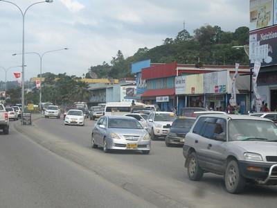 018_Guadalcanal Island  Central Honiara  Mendana Avenue  The Main Road across the City