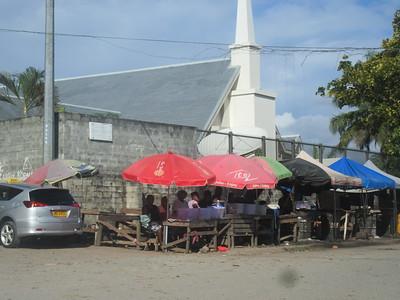 017_Guadalcanal Island  Honiara  Roadside Fruits and Vegetables Stalls