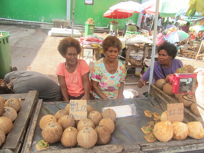 020_Guadalcanal Island  Honiara Central Market  Busy and Colourful  Coconuts  Part 2 of 10