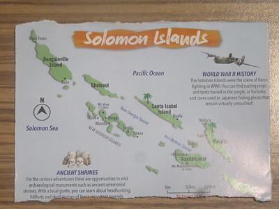 012_Solomon Islands  Certain regions served as battlegrounds during the Second World War