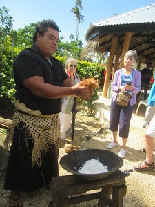 025_Ancient Tonga village  Traditional methods of obtaining coconut milk  Part 3 of 5