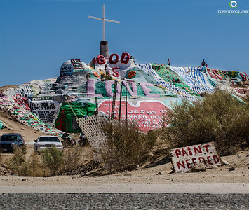 Salvation Mountain is in need of more paint