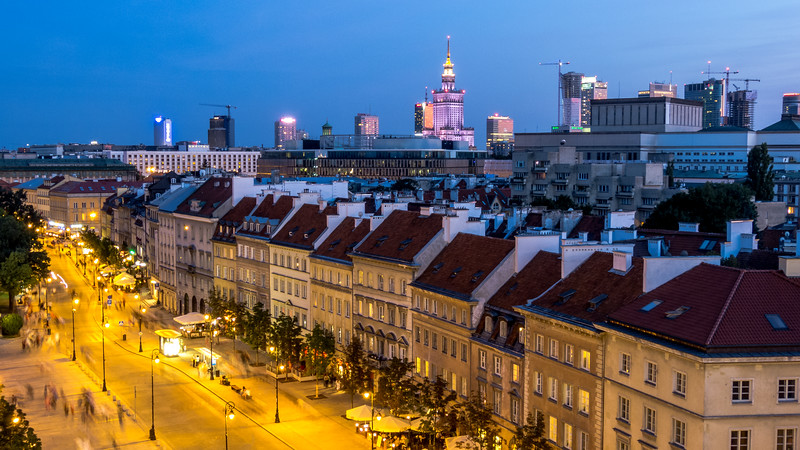 Dusk Over Warsaw, Poland