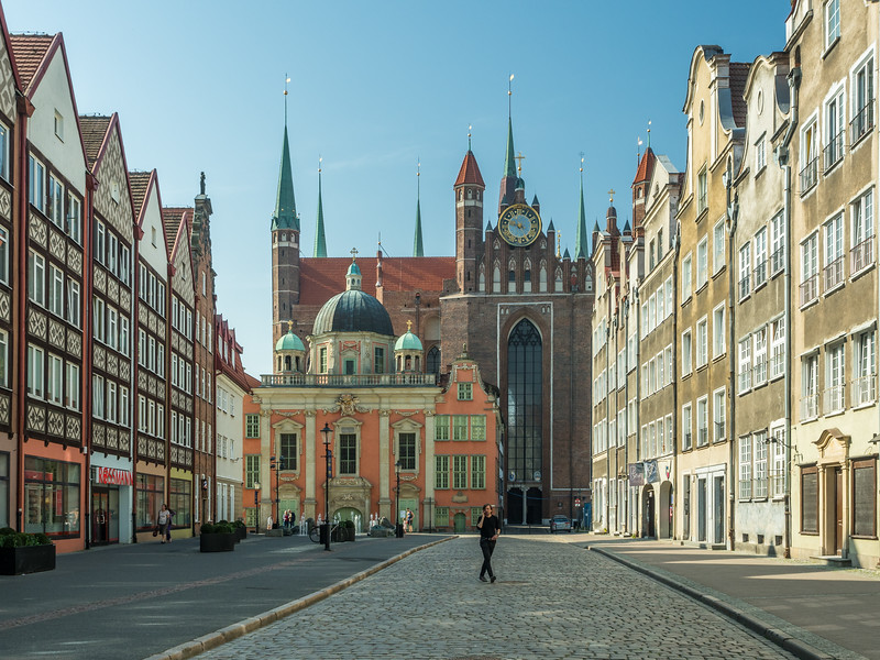 North Street to the Cathedral, Gdańsk, Poland