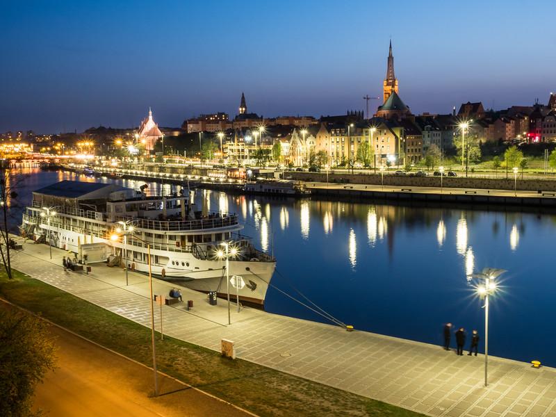 Nightlife on the Riverfront, Szczecin, Poland