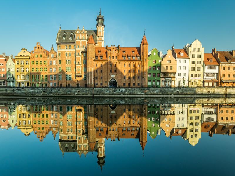 Morning Reflections on the River, Gdańsk, Poland