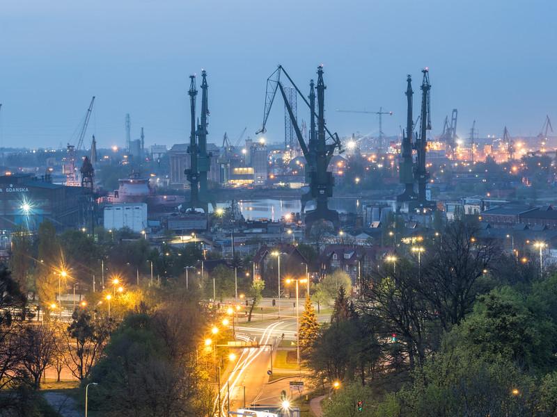 Shipyard Lights, Gdańsk, Poland