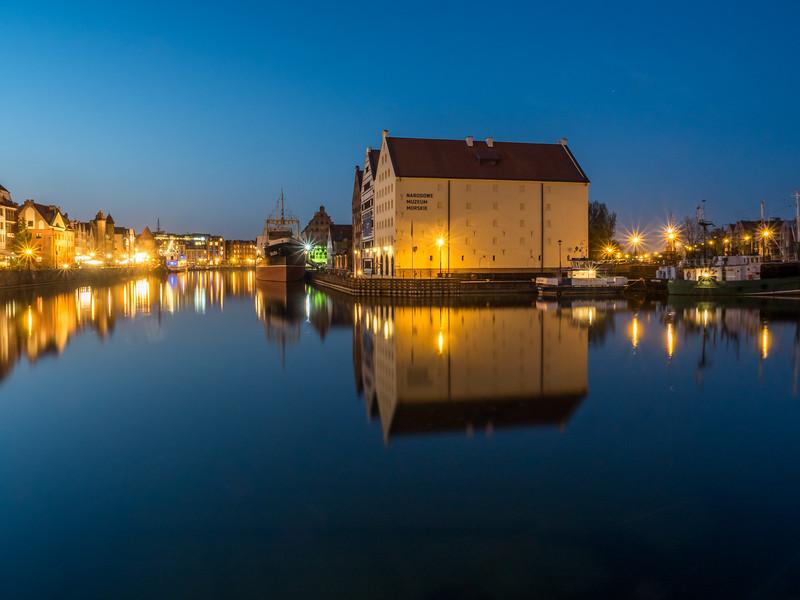 Evening on the Motława, Gdańsk, Poland