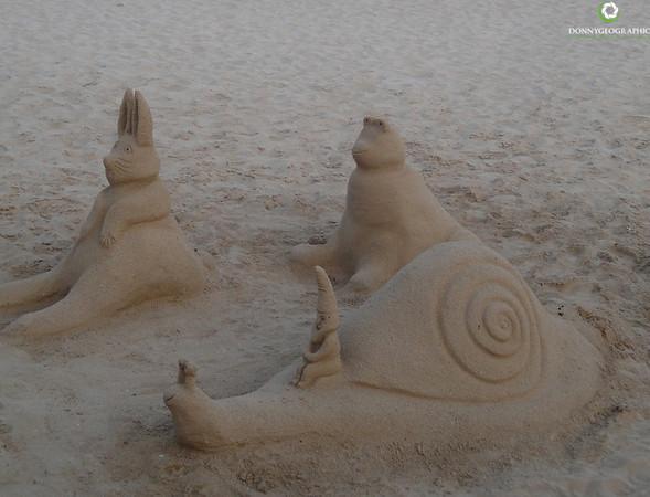 Funny sand castles