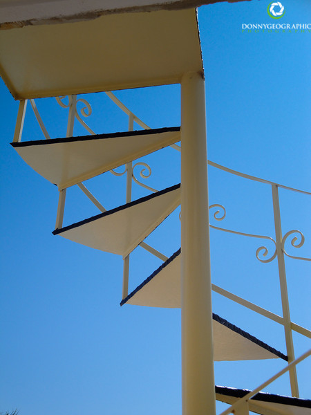 Stairs to blue sky
