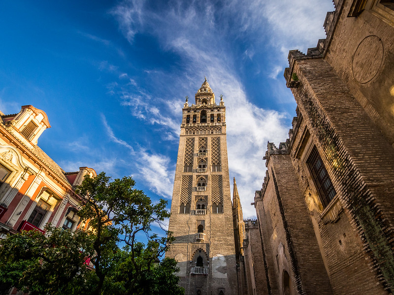 Looking Up at the Giralda, Seville, Spain
