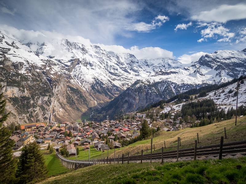 View to Mürren, Switzerland