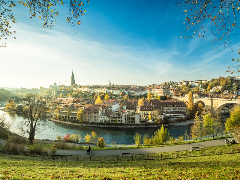 Autumn Afternoon over Bern, Switzerland