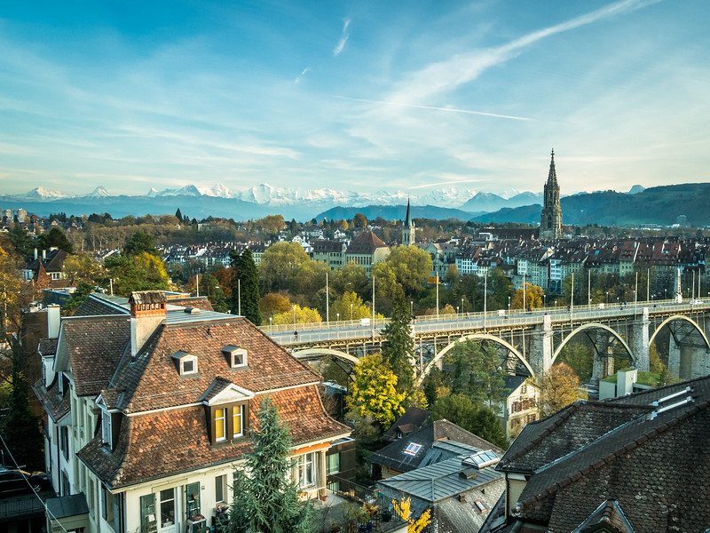 Alps and Rooftops, Bern, Switzerland