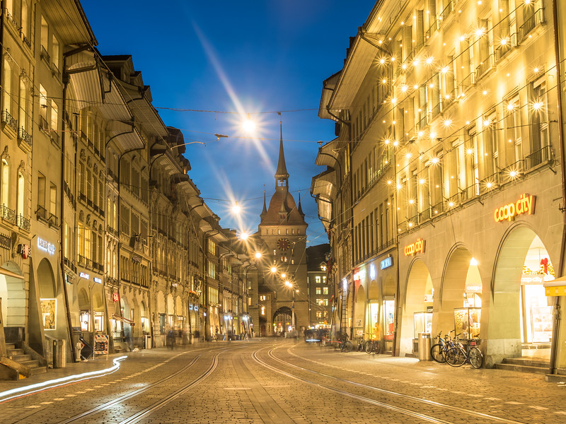 Night on the Marktgasse, Bern, Switzerland