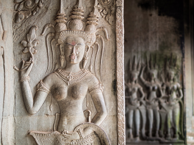 Women in Stone, Angkor Wat, Cambodia