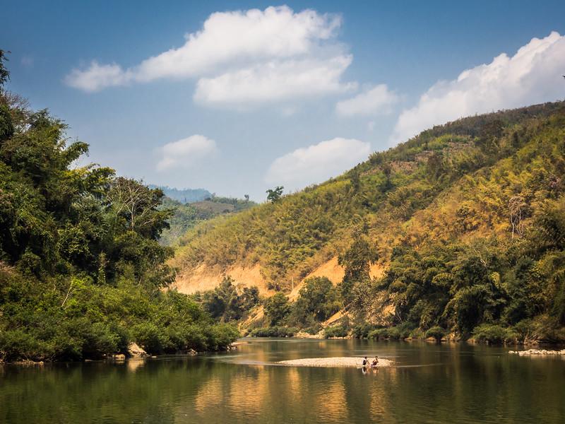 At the Nam Xuang River, Laos