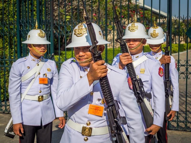 Coming to Attention, Grand Palace, Bangkok, Thailand