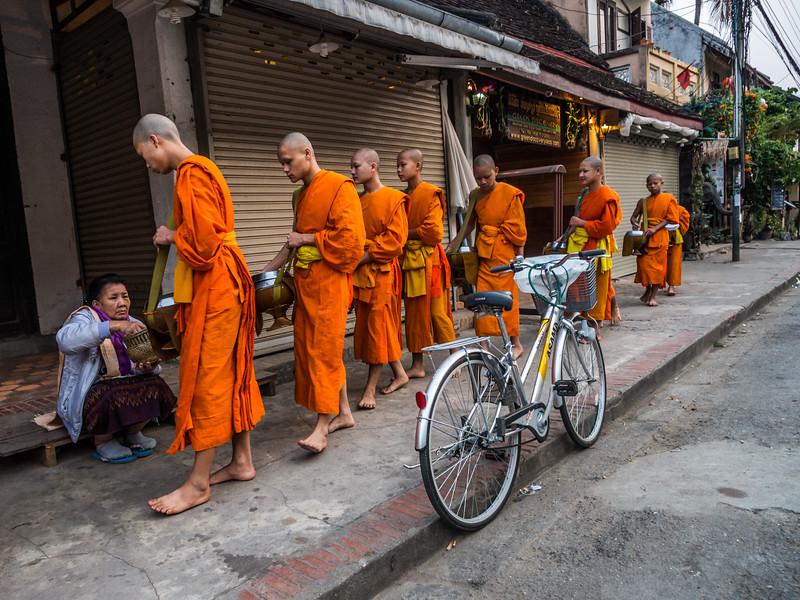 Collecting Alms, Luang Prabang, Laos