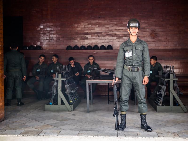 Royal Guards at their Post, Grand Palace, Bangkok, Thailand