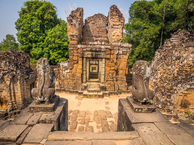 Stone Guards, East Mebon, Angkor, Cambodia