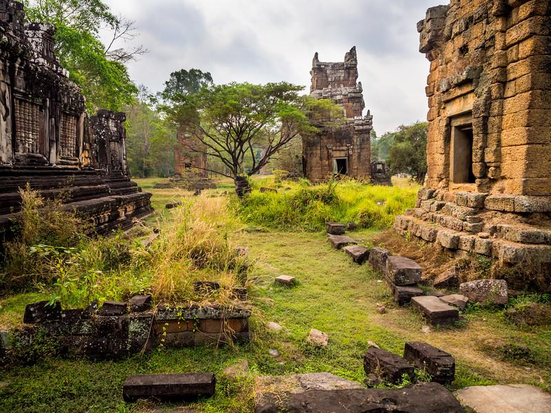 Tranquil Ruins of Prasat Suor Prat, Angkor, Cambodia